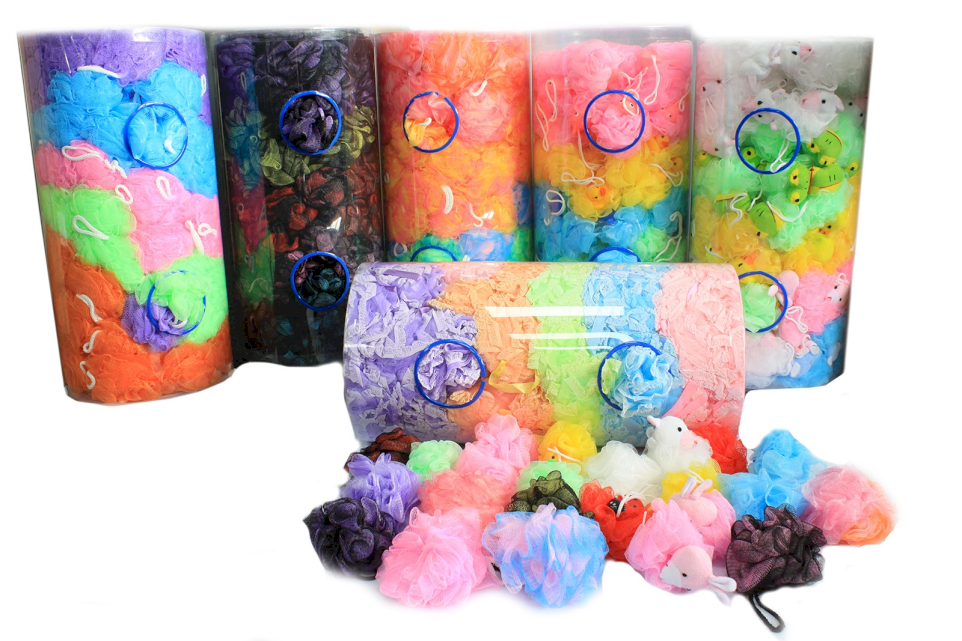Wholesale Scrunchies in display tubes