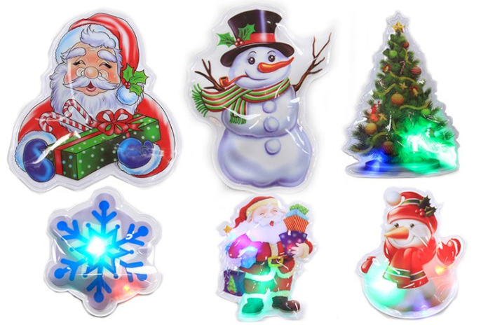 Wholesale Flashing Christmas  Stickers