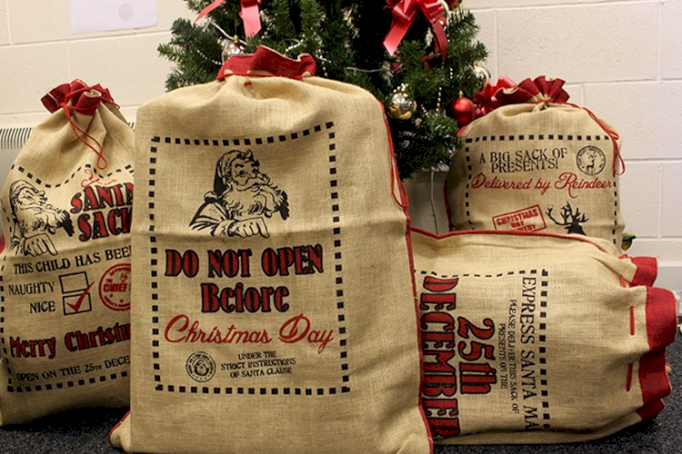 jute santa sacks wholesale