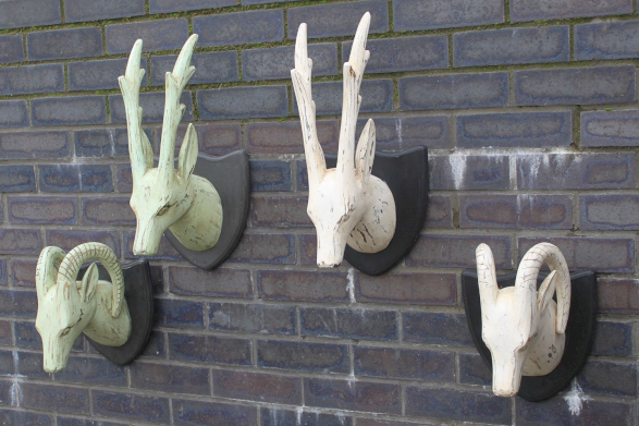 wooden carved deer heads wholesale