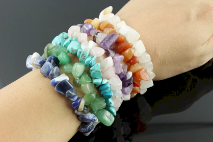 Wholesale Gemstone Chip Bracelets