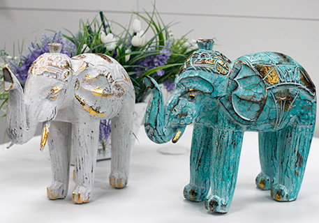 Wholesale Wooden Carved Elephants