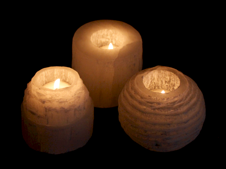 selenite candle holders wholesale